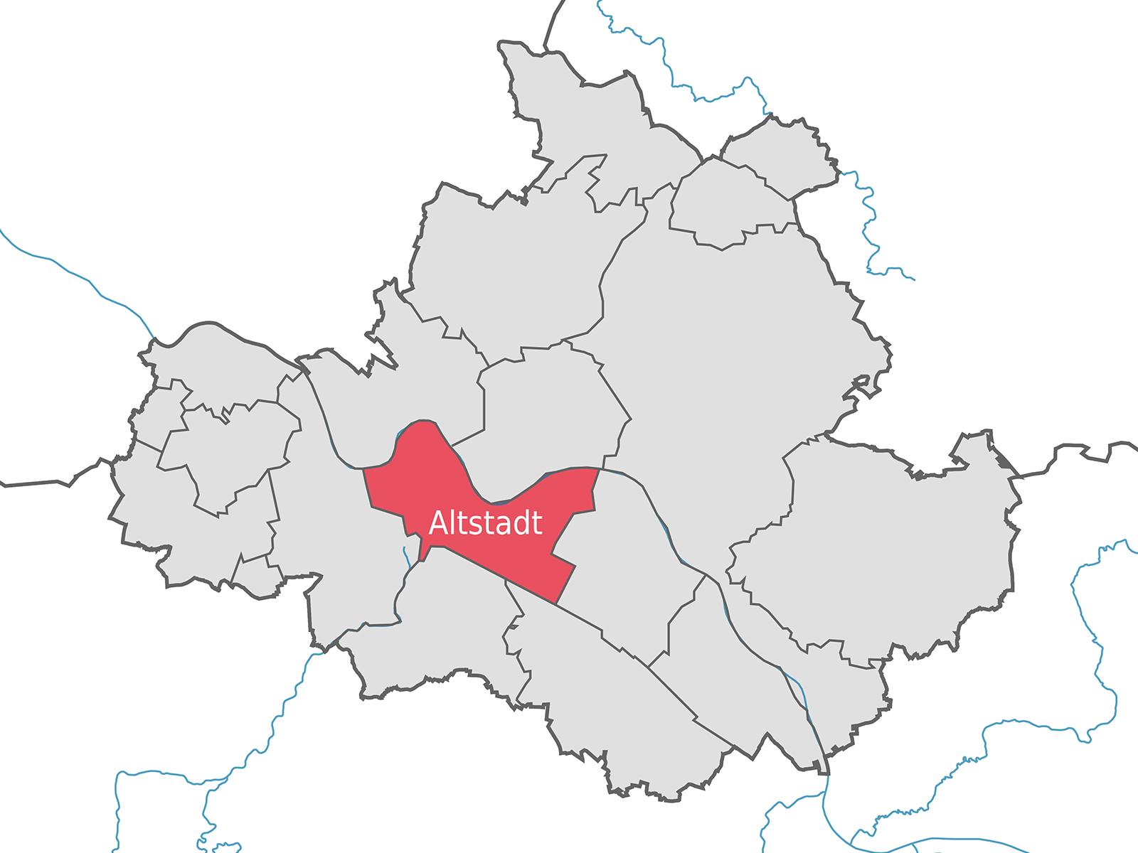 Lageplan Dresden Stadtbezirk Altstadt